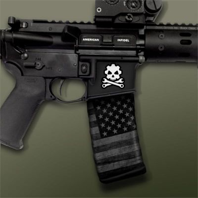 AR-15 Mag Well Decals - Mil-Spec Monkey , Death Mechanic