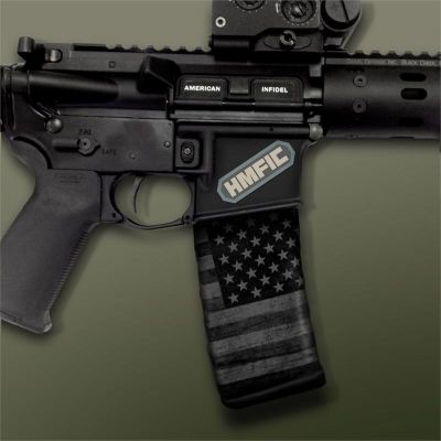 AR-15 Mag Well Decals - Mil-Spec Monkey, HMFIC