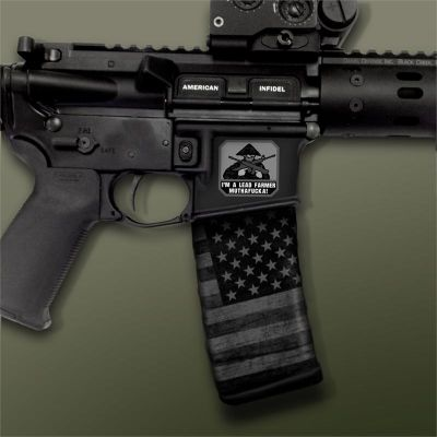 AR-15 Mag Well Decals - Mil-Spec Monkey,  Lead Farmer