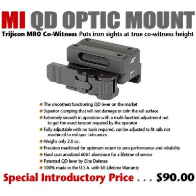 Midwest Industries Trijicon MRO Co-Witness QD Mount