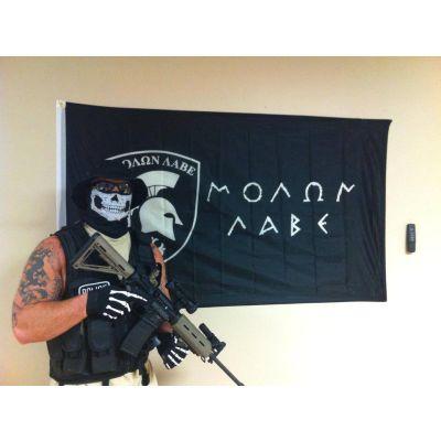 Molon Labe Spartan Flag