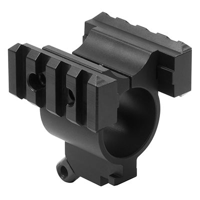 Remington 870 Shotgun Magazinge Tube Mount With Rails/ Bayonette Lug/ Sling Stud - Black