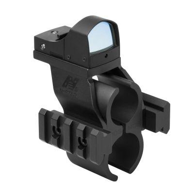Moss 500/590 Shotgun Barrel And Magazine Tube Micro-Dot And Rail Mount With Green Micro-Dot Optic