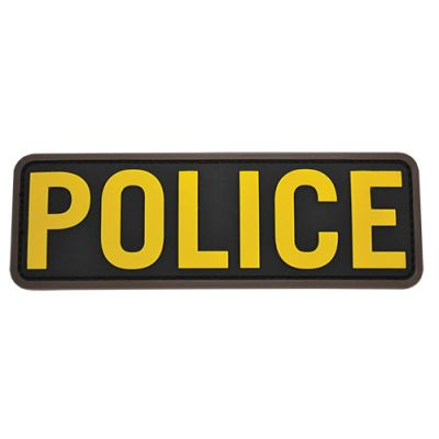 POLICE 6x2 PVC Patch-Gold