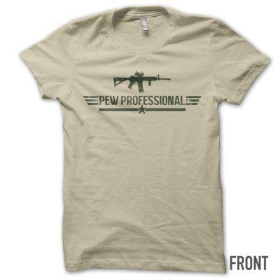 Pew Professional T-Shirt (Tan)