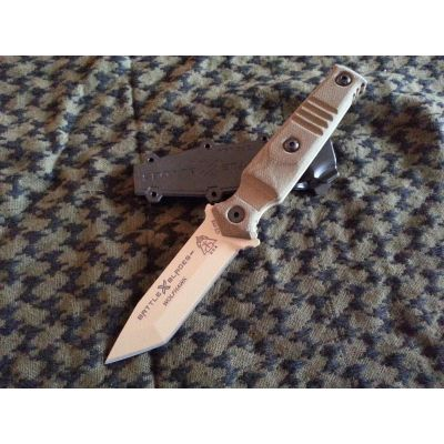 Picatinny Rail Knife Mount - WOLFHAWK HP: Material: Dark Earth Tanto