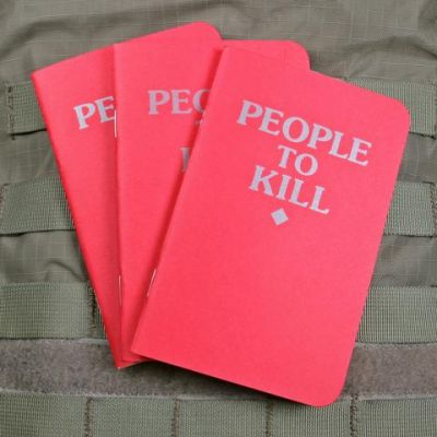 People to Kill Memo Book 3 Pack Red
