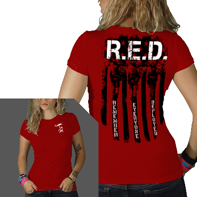 Nine Line Apparel Womens R.E.D. (Remember Everyone Deployed) Tshirt