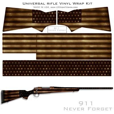 USA Flag Pre-Cut Universal Rifle Skin Vinyl Wrap