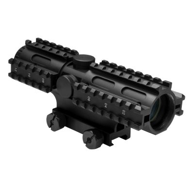 Tri-Rail Series 4X32 Compact Scope/3 Rail Sighting System Mil-Dot/Blue/Weaver Mount