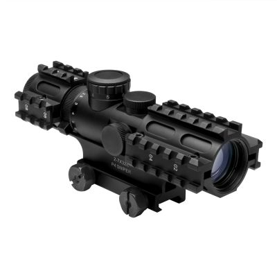 Tri-Rail Series 2-7X32 Compact Scope/3 Rail Sighting System/Blue Ill. P4 Sniper/Green/Weaver Mount