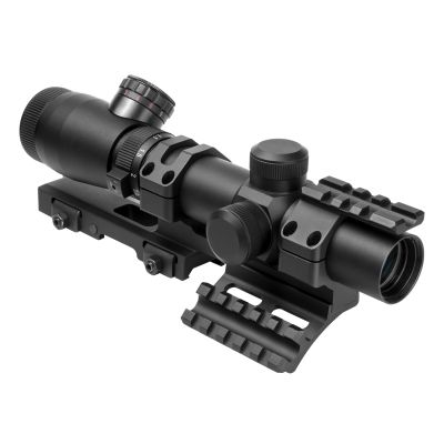 NcSTAR Shooter I Series 1.1-4X24 Scope/ Mil-Dot/ And VISM Vmsprb Mount Combo