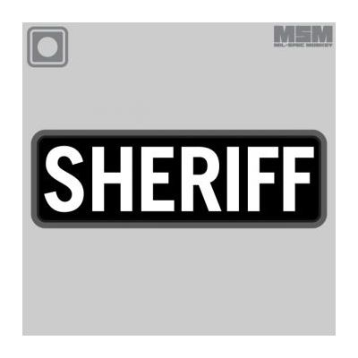SHERIFF 6x2 PVC Patch-Gold