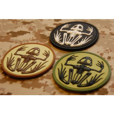 Skeleton Frog Patch 3D-PVC