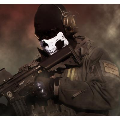 Skull Mask With Fangs - Tubular Stretch Bandana