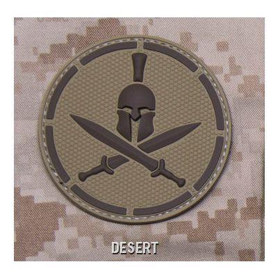Spartan Helmet PVC Patch
