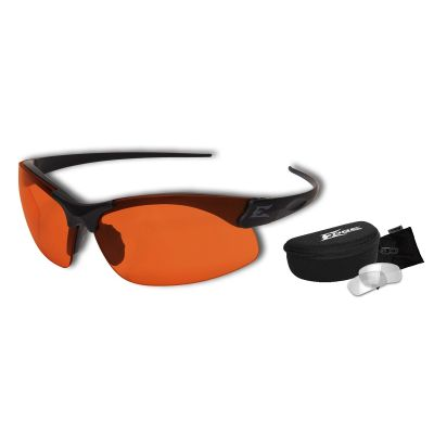 Sharp Edge Thin Temple 2 Lens Kit – ST Matte Blk Frame / Clear, Tiger's Eye Lenses