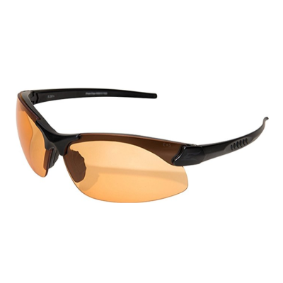 Sharp Edge Thin Temple – Soft-Touch Matte Black Frame / Tiger's Eye Vapor Shield Lens