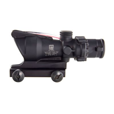 Trijicon 4x32 ACOG, Dual Illuminated Red Chevron .223 Ballistic Reticle w/ TA51 Flattop Mount