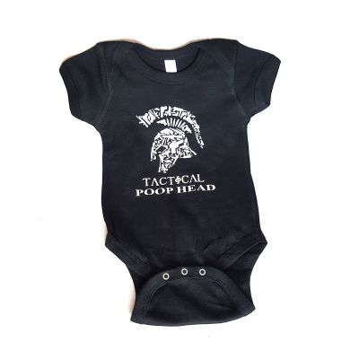 "Tactical Shit Infant ""Tactical Poophead"" Onesie"