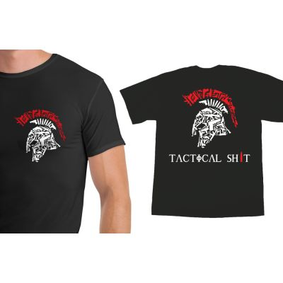 Tactical Shit Spartan Shirt With Name & Logo on the Back