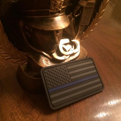 Thin Blue Line American Flag PVC Stealth