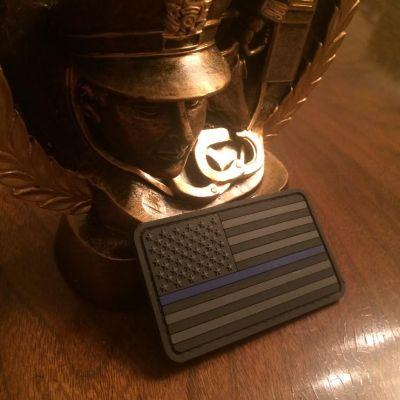 Thin Blue Line American Flag PVC Stealth