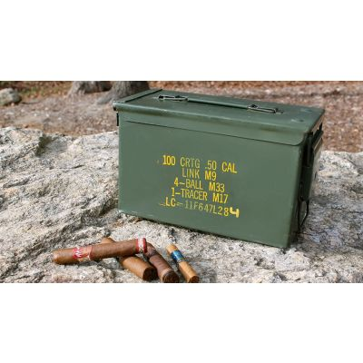 The 50 With Tray Ammo Can Humidor by Ammodor