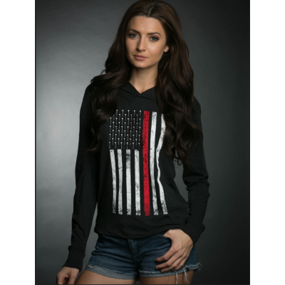 Maiden Apparel Thin Red Line Unisex Hooded Shirt