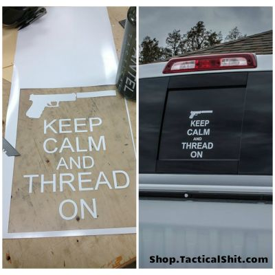 Keep Calm and Thread On Vehicle Decal