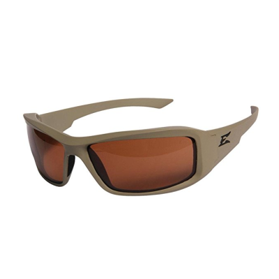 Edge Eyewear Hamel Sand Thin Temple – Matte Sand Frame / Polarized Copper Lens