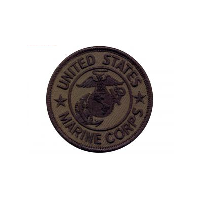 US Marine Corps Round Patch - Subdued