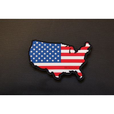 PVC U.S.A. Flag Map Morale Patch