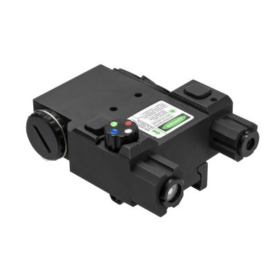 Designator Box With Green Laser And 4 Color Navigation Led/ Quick Release Mount/ Remote Pressure Switch/ Black