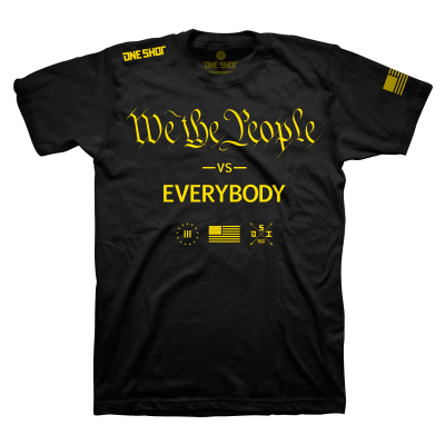 One Shot Industries We the People VS. Everybody Mens Tshirt